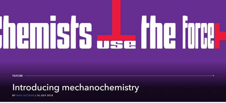 Introducing mechanochemistry